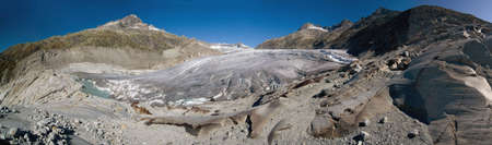 swiss alps: Melting Rhone glacier, Valais, Swiss Alps
