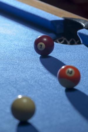 Focus on red billiard ball