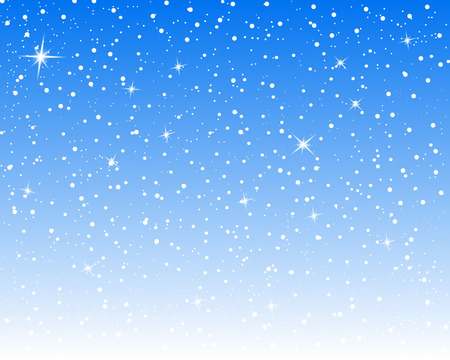 Falling snow background. Vector illustration with snowflakes. Winter snowing sky. Eps 10.