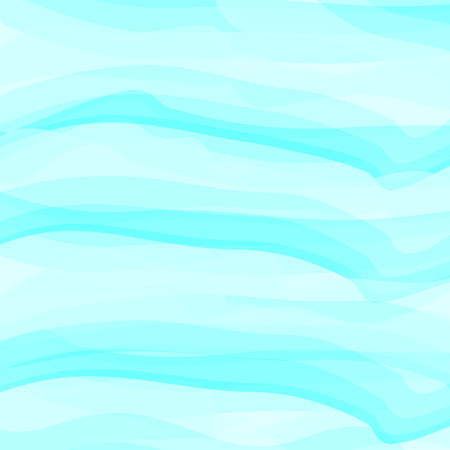 Blue watercolor abstract background. Clouds, sky, sea waves. Color pattern. Vector illustration.