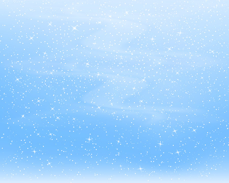 Fond de chute de neige. Illustration vectorielle avec des flocons de neige. Ciel de neige d'hiver. Eps 10.