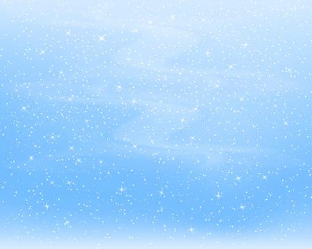 Fondo de nieve que cae. Ilustración de vector con copos de nieve. Cielo nevando de invierno. Eps 10.