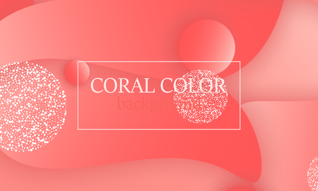 Coral color abstract background. Vector illustration. Colorful gradient pattern.