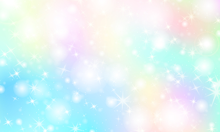 Rainbow mermaid background. Unicorn pattern. Color princess background. Christmas rainbow backdrop. Vector illustration.