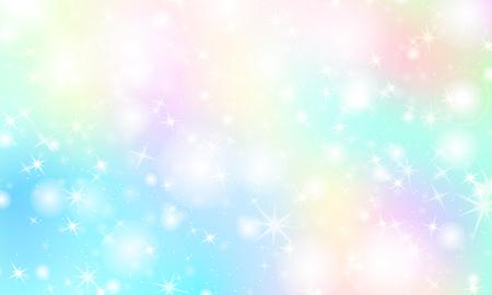 Regenbogen-Meerjungfrau-Hintergrund. Einhorn-Muster. Farbe Prinzessin Hintergrund. Weihnachtsregenbogenhintergrund. Vektor-Illustration.