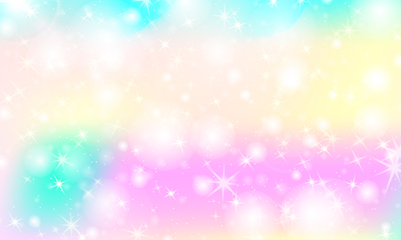 Rainbow mermaid background. Unicorn pattern. Color princess background. Christmas rainbow backdrop. Vector illustration.