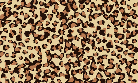 Leopard print design. Animal skin pattern. Vector illustration.