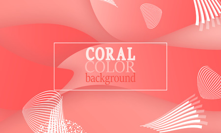 Coral abstract background. Vector illustration. Red pink background. Color coral pattern. Ilustracja