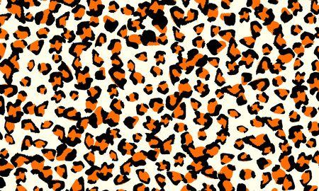Leopard print design. Animal skin pattern. Vector illustration.