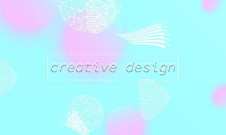 Minimal design. Trendy gradient colors. Fluid shapes. Vector illustration. 向量圖像