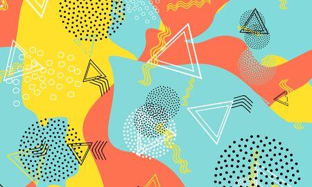 Halftone Red Wallpaper. Mustard Vector Design. Aqua Simple Drawing. Kinder Print. Baby Blue Minimal Template. Amber Graphic Artwork. 90s Fashion. Иллюстрация