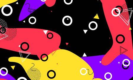 Textile Elements. Ink Cool Illustration. Color Composition. Terracotta Modern Banner. Summer Fashion. Lavender Background. Dot Design. Black Pop Artwork.
