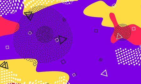 Lilac Flow Composition. Textile Ornament. Red Splash Design. Honey Memphis Cover. Circle Poster. Lavender Cool Elements. Violet Cute Flyer. Stock Illustratie