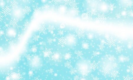 Winter background. Realistic snowflakes. Vector illustration. Christmas background. Falling snow. Illustration