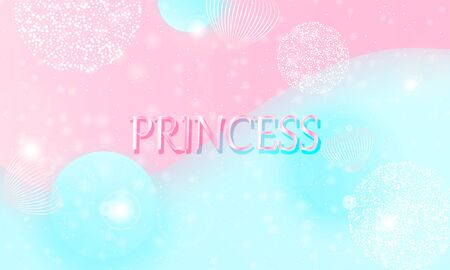 Princess background. Mermaid rainbow. Magic stars pink. Unicorn pattern. Fantasy galaxy. Fairytale graphics. Pink princess colors.