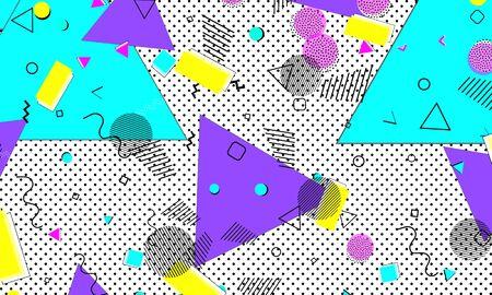 Childish Turquoise Pattern. Violet Circle Wallpaper. Spring Illustration. Lemon Background. Fluid Artwork. Pink Line Backdrop. Blue Composition. Gradient Template.