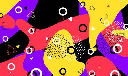 80s Artwork. Black Summer Pattern. Cute Ornament. Terracotta Childish Flyer. Retro Art. Violet Template. Colorful Cover. Ink Stripes Print. Ilustracja