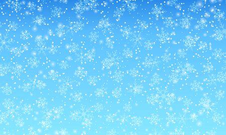 Winter snow background. Vector illustration. Snowfall sky. Christmas background. Falling snow. 向量圖像
