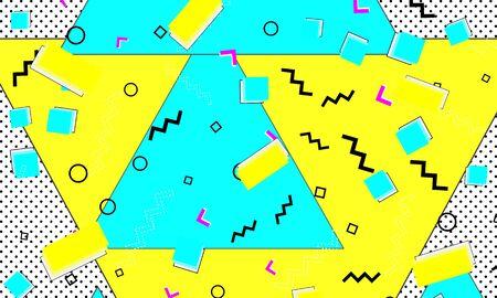 Blue Illustration. Spring Design. Dot Lemon Template. Triangle Ornament. Animation Cyan Composition. Yellow Grunge Flyer. Splash Aqua Art.