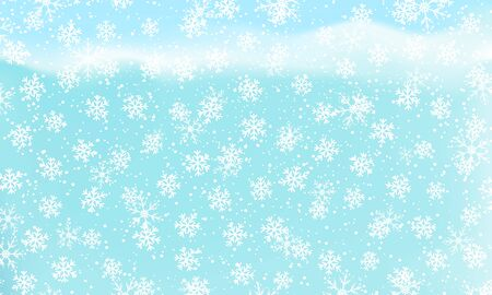 Winter snow background. Vector illustration. Snowfall sky. Christmas background. Falling snow. 向量圖像