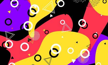 Impression de dessin animé à l'encre. Éléments d'animation. Toile de fond tachetée de corail. Art minimal. Dessin violet. Belle œuvre d'art. Mode amusante noire.