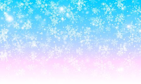 Magical background. Winter snow. Vector illustration. Snowfall sky. Christmas background. Falling snow.