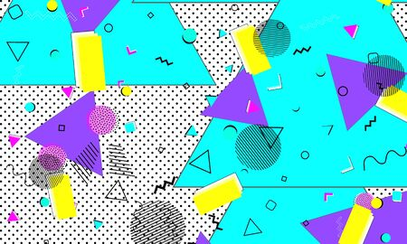 Fun Aqua Elements. Pop Art Banner. Hipster Template. Yellow Cover. Halftone Decor. Lavender Creative Art. Azure Artwork. Splash Texture. Çizim