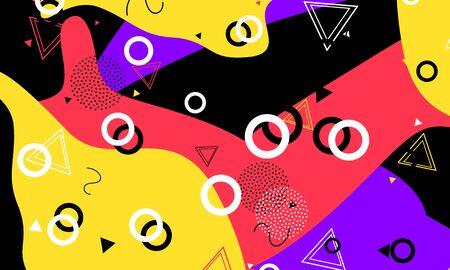 Spring Decor. Black Cool Texture. Artistic Banner. Red Modern Template. Flow Print. Violet Flyer. Child Elements. Ink Vector Fashion. 向量圖像