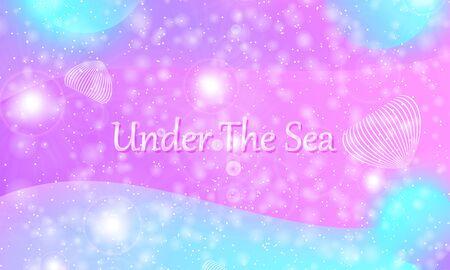 Princess background. Mermaid rainbow. Magic stars. Unicorn pattern. Fantasy galaxy. Fairytale princess colors.