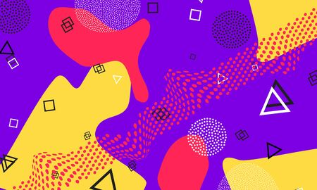 Lilac Funky Artwork. Animation Pattern. Coral Fun Art. Honey Dot Decor. Gradient Poster. Purple Cute Template. Lavender Funny Drawing.