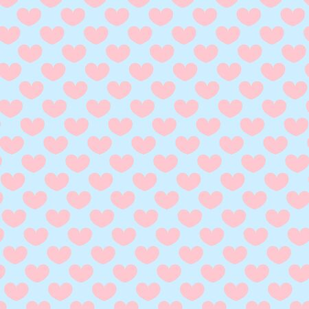 Hearts pattern. Valentine day design. Pink, blue colors. Love day. Vector.