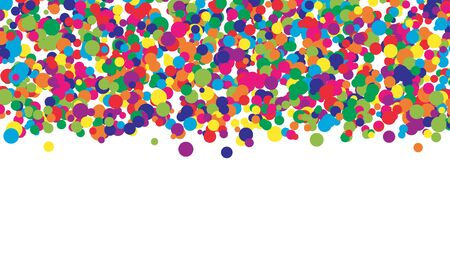 Falling color dots. Fun background. Vector illustration. Abstract bright colored dotted circles. Eps10.