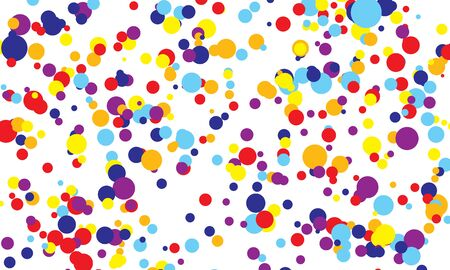 Dot color background. Vector illustration. Abstract bright colored dotted circles. Falling color dots. Eps10. 일러스트