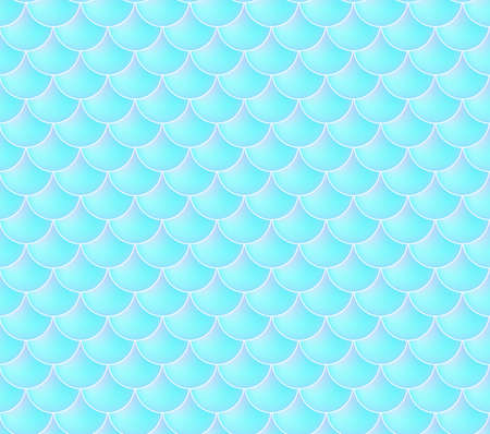 Mermaid Scales. Fish Squama. Blue Seamless Pattern.