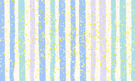 Watercolor Striped Background. Golden dots. Stripes Pattern with hand painted brush strokes. Abstract colorful line background. Color splash. Vector illustration.