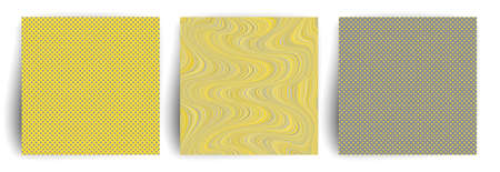 Yellow and gray colors abstract cover design. Trendy geometric posters.