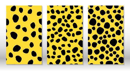 Animal skin leopard pattern. Cheetah print. Covers design template. Leopard print design. Vector.