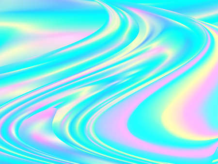 Vibrant Liquid Color. Fluid Background. Hologram Futuristic Poster.