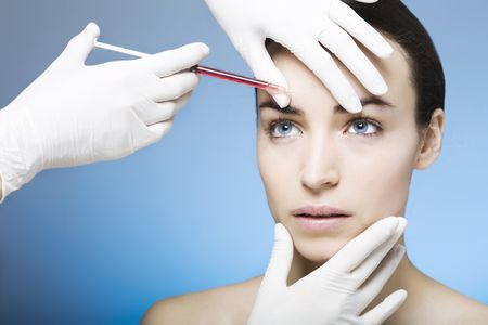 botox injection for a young woman photo