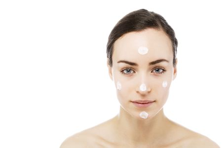 young woman getting some beauty and skin treatment Stock Photo