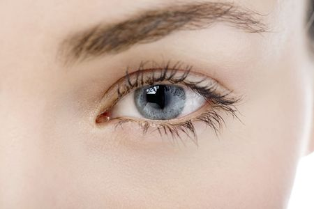 Close Up of a womans eye looking into camera photo