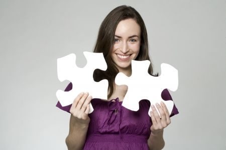 woman with a puzzle photo