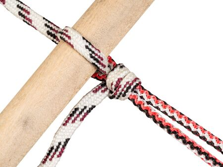 rope knotted on white background