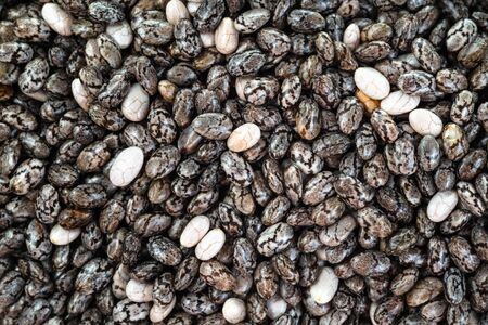 background from many dried Chia seeds close-up