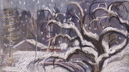 appletree: Snowfall  Snow fell asleep an old apple-tree