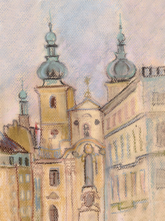 residence: Cityscape with ancient private residence, March, Prague