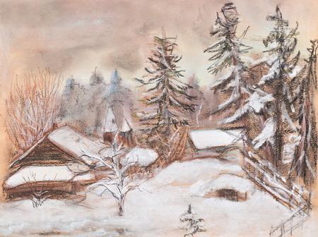 snowdrifts: Little settlement in winter. Cold, deep snowdrifts
