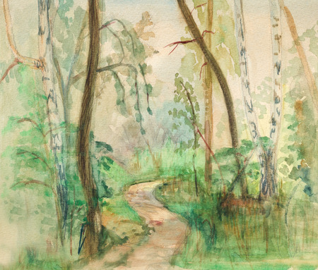 rural road: Rural road in deciduous wood. Summer, July