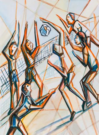 intense: Sportgame basketball, intense moment near grid