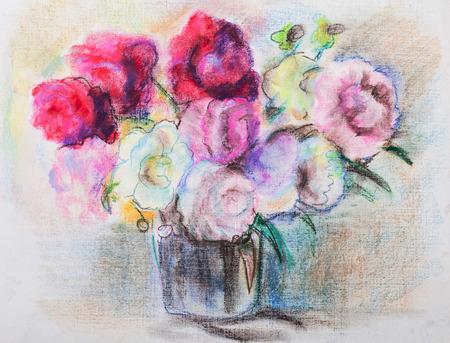pfingstrosen: Gro�e Bouquet von roten und wei�en Pfingstrosen Lizenzfreie Bilder